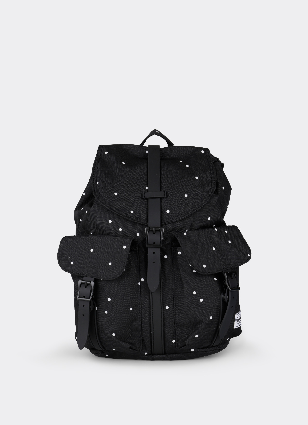 Herschel Supply Co Dawson Black Rubber Polkadot Backpack