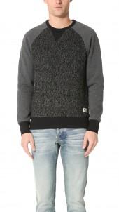 Wool Panel Sweatshirt
