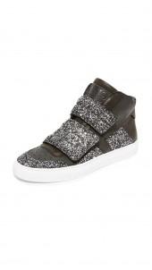 Velcro Glitter High Top Sneakers