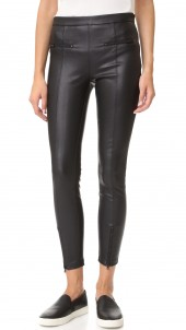 Vegan Leather Front Zip Leggings