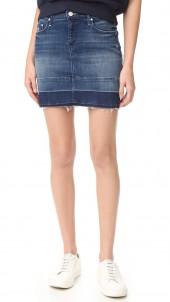 Undone Hem Mini Skirt