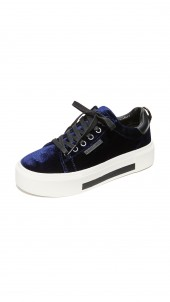 Tyler Velvet Platform Sneakers