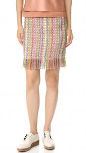 Tweed Fringe Skirt