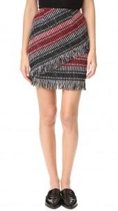 Tweed Fringe Miniskirt