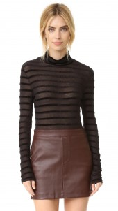 Turtleneck Sweater with Stripes