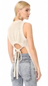 Tube Yarn Open Back Vest