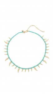 Tiki Beaded Spike Necklace