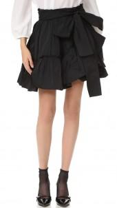 Tie Waist Ruffle Skirt