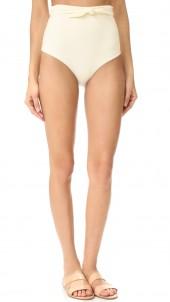 Tie Front High Waist Bikini Bottoms