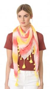 Tie Dye Square Scarf