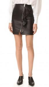 Tia Leather Skirt