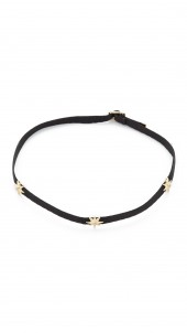 Three Diamond Star Choker Necklace