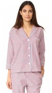Thin Multstripe Marina Pajama Shirt