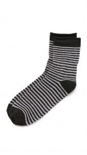 Stripe Rolled Fleece Socks