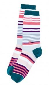 Stripe Blossom Socks