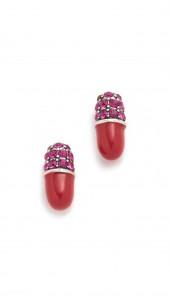 Strass Pill Stud Earrings