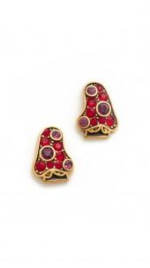 Strass Mushroom Stud Earrings