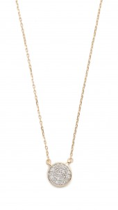 Solid Pave Disc Necklace