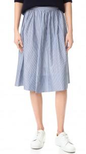 Shirred Full Skirt