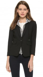 Schoolboy Jacket with Striped Dickey