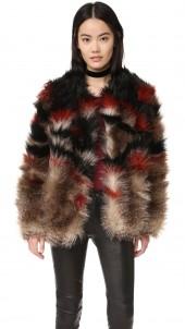 Scarlet Fax Fur Jacket