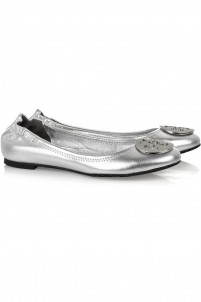 Reva metallic leather ballet flats