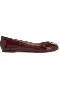 Reva patent-leather ballet flats