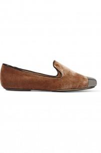 Victoria velvet slippers