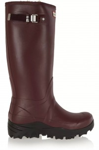 Tall Snow Wellington shearling-lined rubber boots
