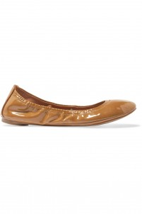Eddie patent-leather ballet flats