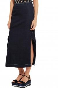 Elisha split denim skirt