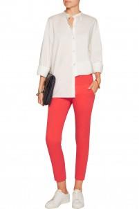 Cotton slim-leg pants