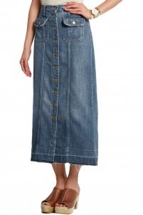 The Sally denim midi skirt