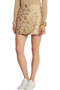 Beth paisley cotton-blend jacquard mini skirt