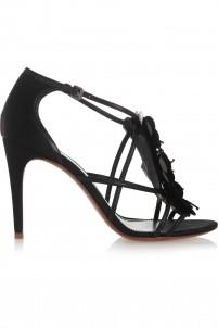 Emmanuelle embellished satin sandals