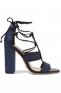 Maxine lace-up denim sandals