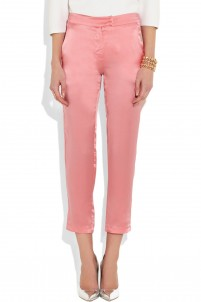 Rory high-waisted washed-silk tapered pants