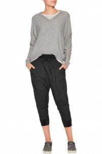 Cropped shell tapered pants