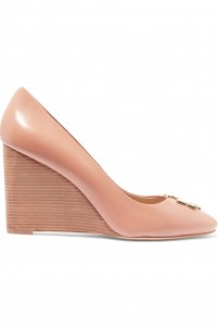 Raleigh glossed-leather pumps