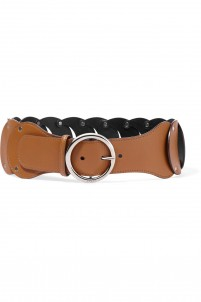 Cutout leather belt