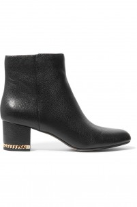 Sabrina textured-leather ankle boots