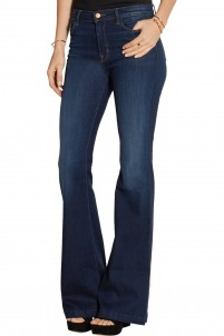 Maria mid-rise flared jeans