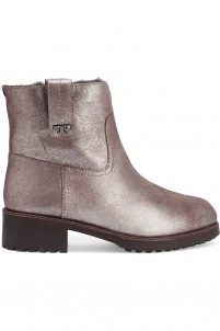 Wayland shearling-lined metallic suede boots