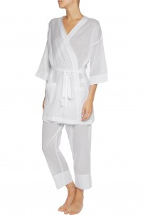Ryder striped Pima cotton robe