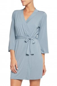 Talco stretch-jersey robe