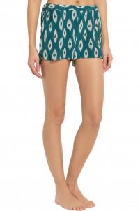 Landis printed washed-silk pajama shorts