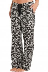 Avery printed washed-silk pajama pants