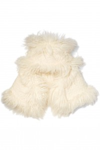 Faux shearling hat