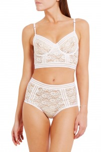 Agnes stretch-corded lace underwired bra