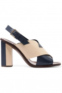 Bleecker two-tone leather slingback sandals